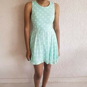 Mint Green Retro Polkadot Sundress